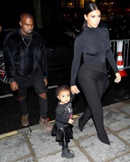 """¡Kim Kardashian, Kanye West y la pequeña North West son nombrados como """"la primera familia fashion""""!"""