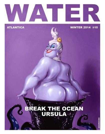 Ursula de A Pequena Sereia imita Kim Kardashian e posa com o bumbum de fora