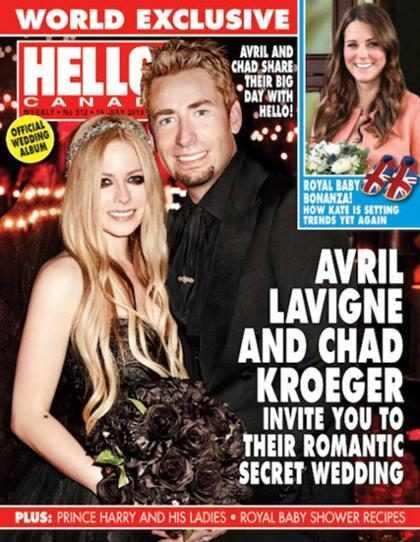 Avril Lavigne se casa de preto!