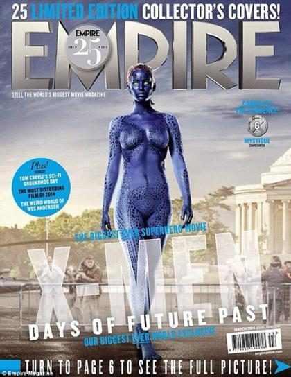 Jennifer Lawrence aparece seminua caracterizada de Mística em revista