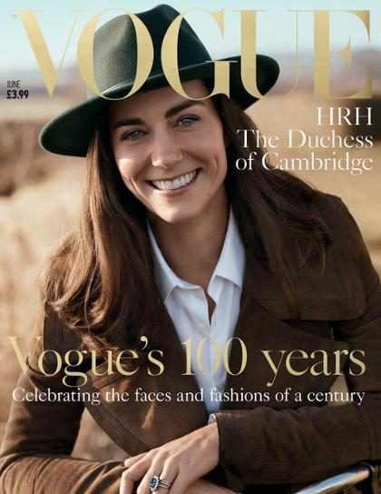 Kate Middleton estampa pela primeira vez a capa da Vogue britânica