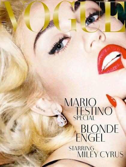 Miley Cyrus vira Marilyn Monroe e posa nua para Vogue alemã