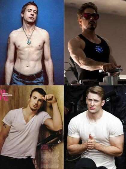 Atores antes e depois dos filmes da Marvel