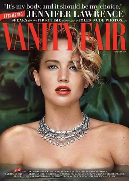 Jennifer Lawrence fala pela primeira vez sobre fotos nuas vazadas
