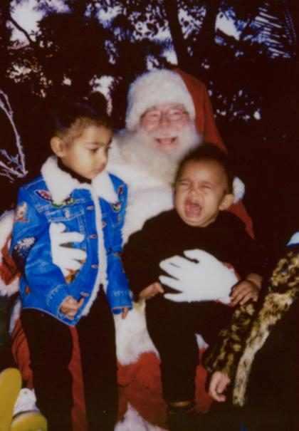 Kim Kardashian relembra foto de Saint West com medo do Papai Noel