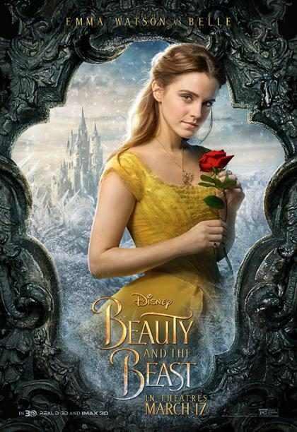 Emma Watson se luce en el nuevo póster de La Bella y la Bestia