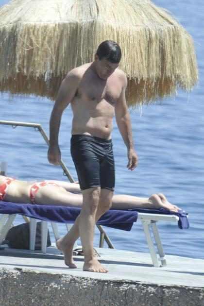 Antonio Banderas disfrutando de las playas de Italia