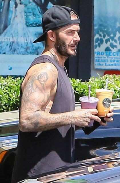 David Beckham se quita la camisa y sus tatuajes cobran vida en una campaña de UNICEF