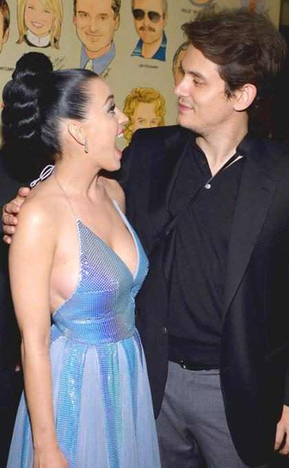 Katy Perry e John Mayer vão juntos ao casamento de Allison Williams