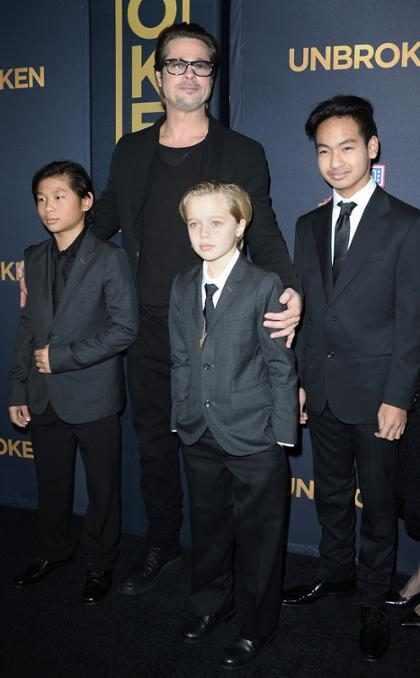 Brad Pitt vê os filhos pela primeira vez após divórcio de Angelina Jolie