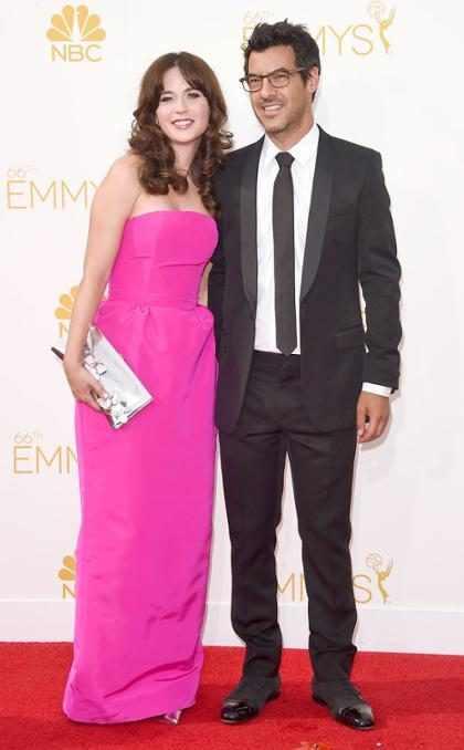 Zooey Deschanel debutó con su novio Jacob Pechenik en la #AlfombraRojaE! de los Emmy (+ Fotos)