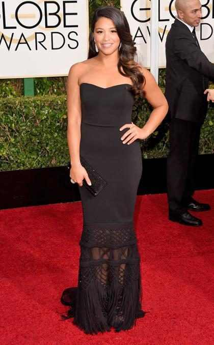 OMG! ¡No creerás lo que hará Gina Rodríguez con uno de sus vestidos de alfombra roja!