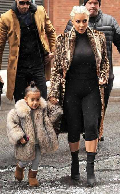 Kim Kardashian disparó contra los detractores del envidiable estilo de North West
