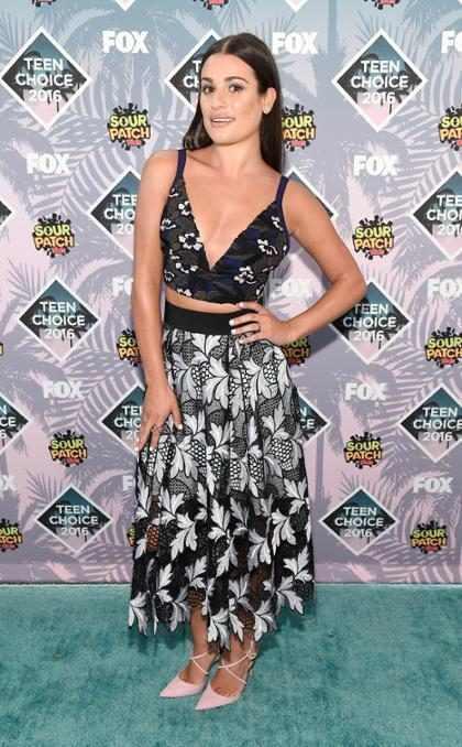 Lea Michele usó sus influencias para no ser la peor vestida de los Teen Choice Awards ¿Lo logrará? (+ Foto)
