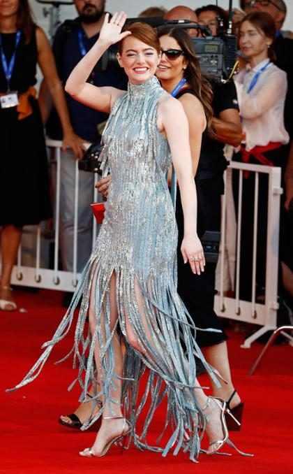 Emma Stone en la alfombra roja del Festival de Cine de Venecia