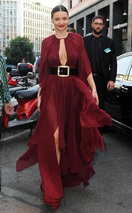 Miranda Kerr, toda una diosa en la Milan Fashion Week