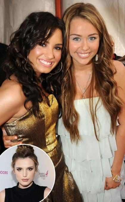 Bella Thorne revela que Demi Lovato e Miley Cyrus são suas crushes