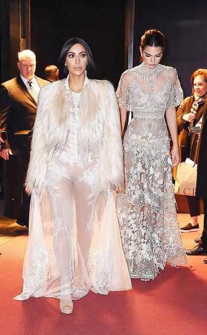 Kim Kardashian e irmãs Jenner gravam cena do filme Ocean's Eight