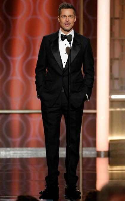 Brad Pitt reapareció triunfal en los Golden Globes y demostró ser el favorito de todos