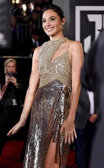 Gal Gadot a su llegada a la premiere de <i>La Liga de la Justicia</i> en Los &Aacute;ngeles