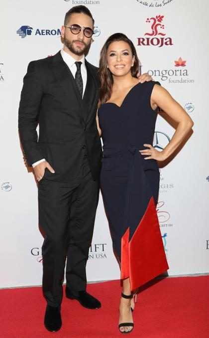Maluma y Eva Longoria en la Global Gift Gala en Ciudad de México