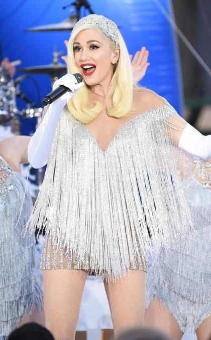 Gwen Stefani cantando en el desfile de Acción de Gracias de Macy's