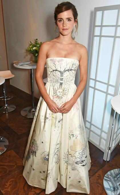 Emma Watson se transformó en una princesa para los Elle Style Awards