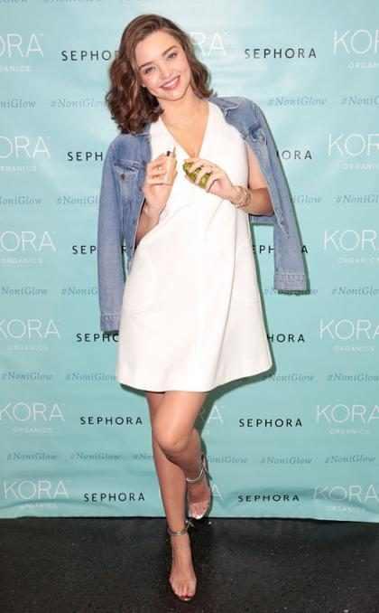 Miranda Kerr radiante, en su primera aparición pública desde que anunció su embarazo