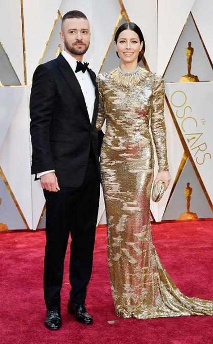 Justin Timberlake y Jessica Biel aprovecharon el incio del Oscar para demostrarnos que se aman demasiado (+ Video)