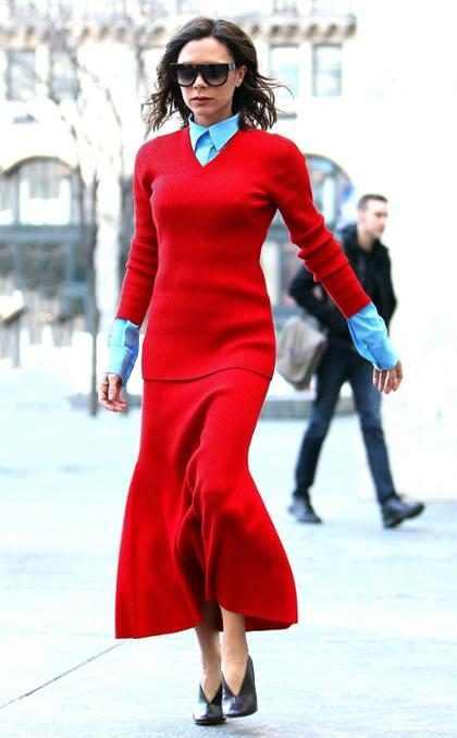 Victoria Beckham hace de las calles de Nueva York una pasarela