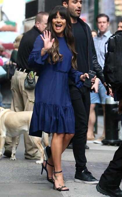 Lea Michele en Nueva York con cara de viernes