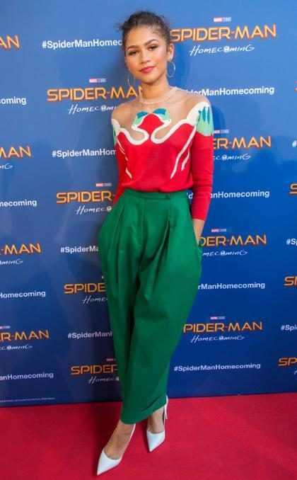 Zendaya visita Espa&ntilde;a con sus compa&ntilde;eros de <em>Spider-Man: Homecoming</em>&#8230;