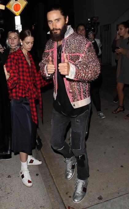 Jared Leto a su salida de los MTV VMAs 2017 en Los Ángeles