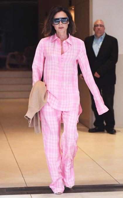 ¿Victoria Beckham caminando en pijama por Nueva York?