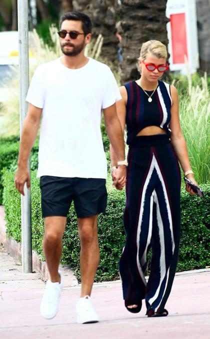 Scott Disick y Sofia Richie siguen sus vacaciones en Miami
