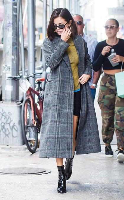 Selena Gomez paseando muy tranquila por las calles de Nueva York