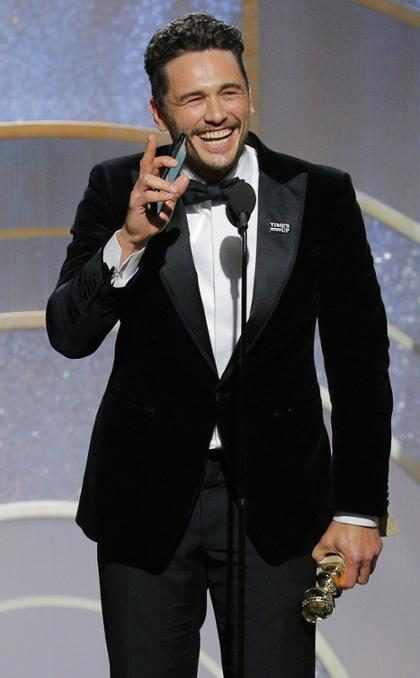 Una actriz estalló contra James Franco en los Globos de Oro: