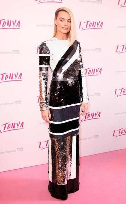 Margot Robbie deslumbró en el estreno de I, Tonya en Londres