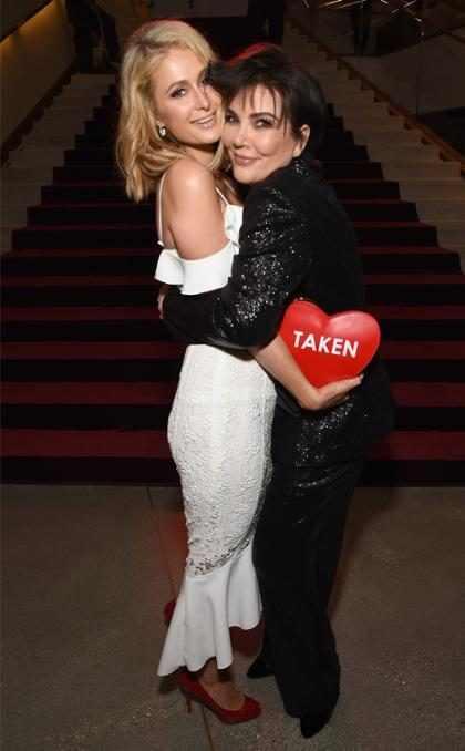 Paris Hilton y Kris Jenner en la presentación de la colección Otoño 2018 de Rachel Zoe