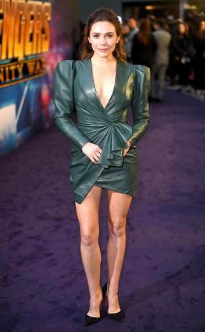 Elizabeth Olsen en la premier de Londres de Avengers: Infinity War