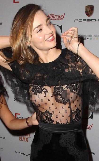 Miranda Kerr, mulher de Orlando Bloom, mostra demais em evento