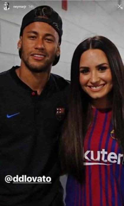Así reaccionó la ex novia de Neymar ante el encuentro del futbolista con Demi Lovato