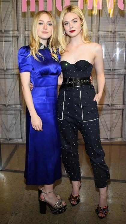 Dakota y Elle Fanning en el Paris Fashion Week