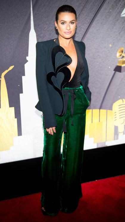 Lea Michele en una fiesta pre Grammys