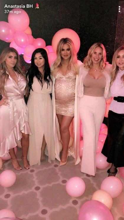 Todos los detalles del lujos baby shower de Khloé Kardashian