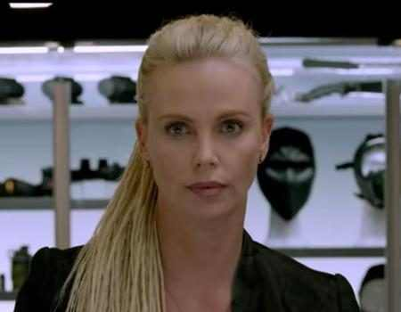 the fate of the furious trailer released charlize theron looks super fierce in 8th fast. Black Bedroom Furniture Sets. Home Design Ideas