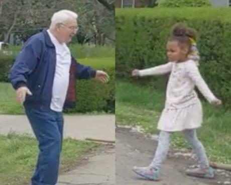 This Grandfather-Granddaughter Duo Is Having Dance-Offs to Stay Connected During Coronavirus Outbreak