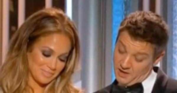 Watch Jeremy Renner Call Jennifer Lopez S Boobs Globes