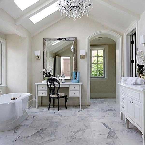 Run a bubble bath from kim kardashian kanye west 39 s 20 for Master bathroom vaulted ceiling