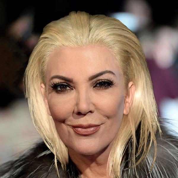 Kris Jenner From Kardashian Hair Swap Kim S Blond Bob On